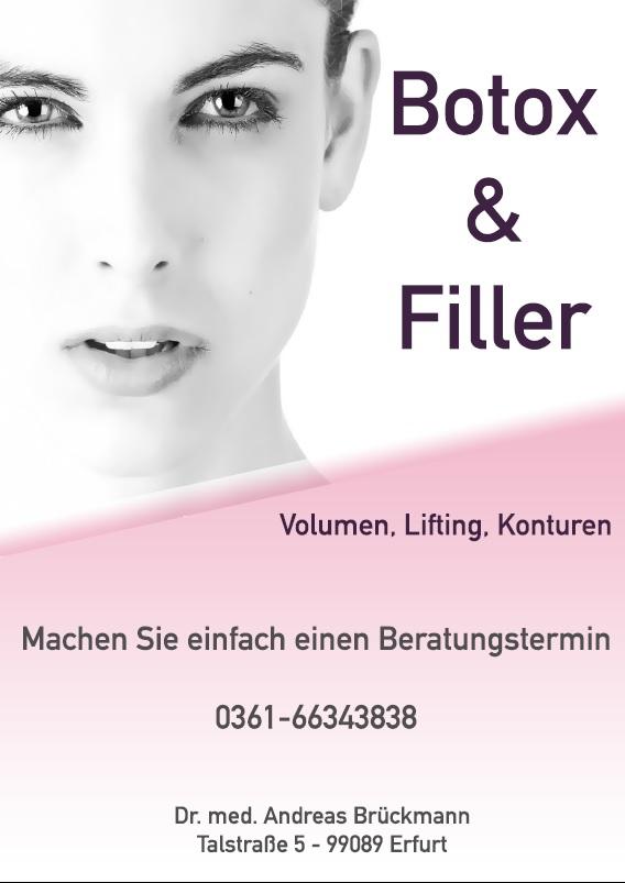 Botox & Filler - Volumen, Lifting, Konturen - Machen Sie einen Beratungstermin in Erfurt